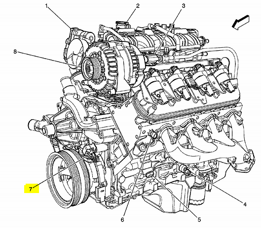 where is the location of crankshaft position camshaft