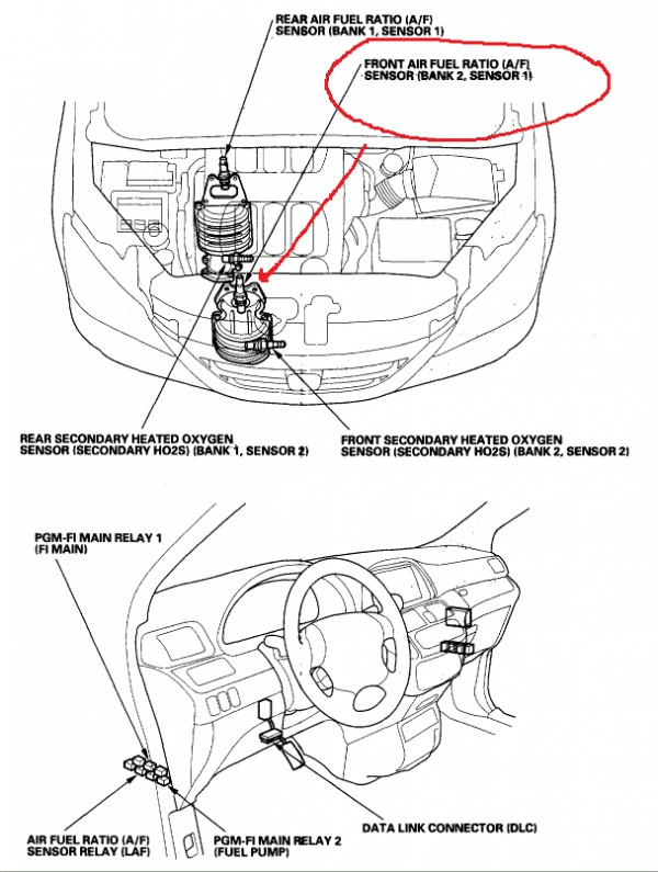 P2247 Honda on toyota tundra o2 sensor location