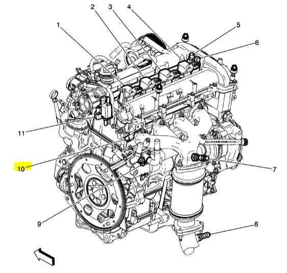 Where are the Camshaft sensors located on the 2013