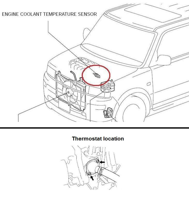 P0116 2006 Scion Xb Engine Coolant Temperature Circuit Range