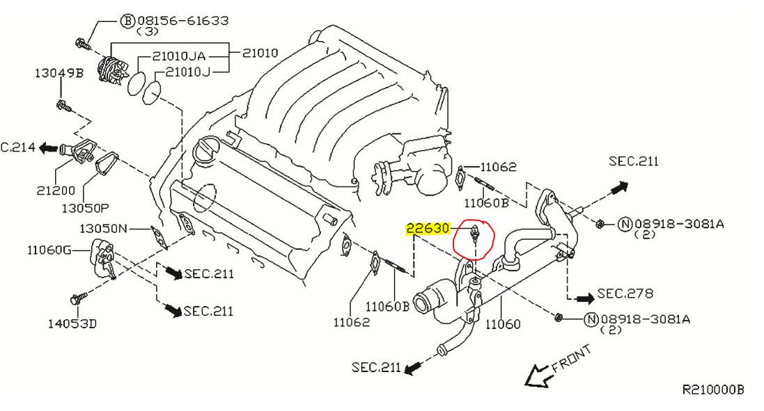 p0118 2006 nissan maxima engine coolant temperature sensor