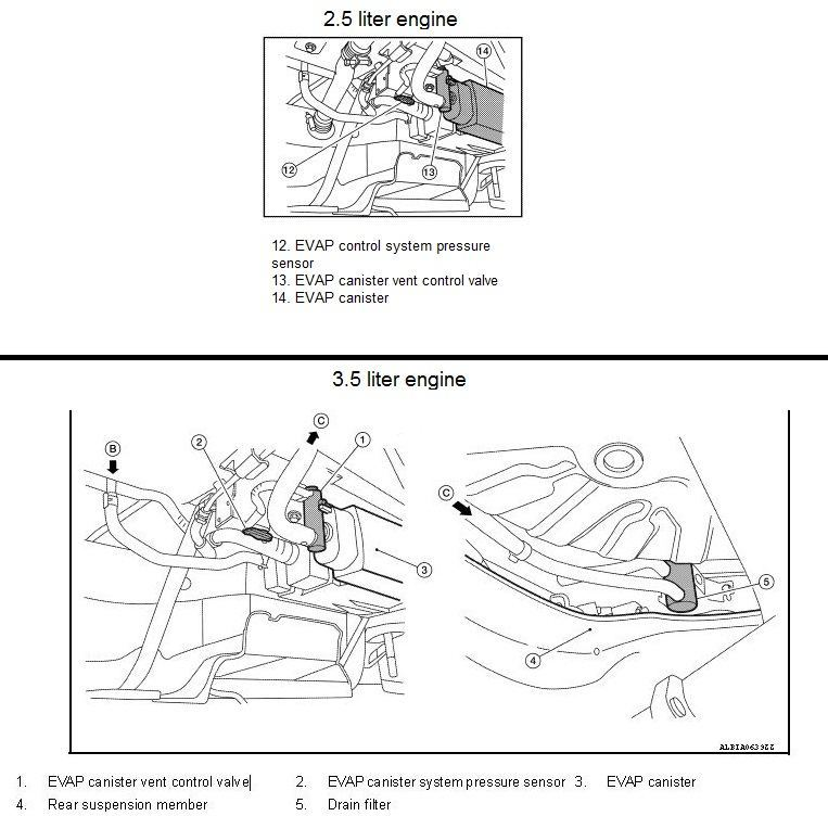 23729 p0448 2010 nissan altima sedan evaporative emission control system 2006 Nissan Altima Wiring Diagram at fashall.co