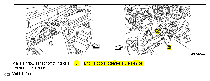 p0116 2013 nissan rogue engine coolant temperature sensor