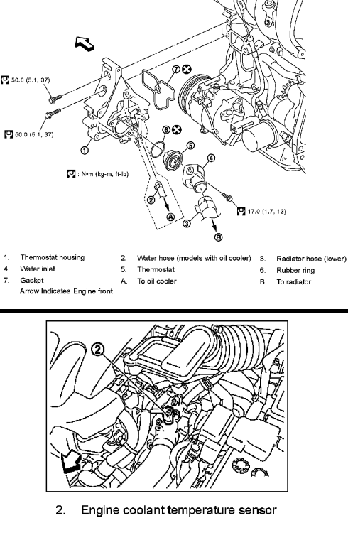 p0118 2008 nissan versa engine coolant temperature sensor