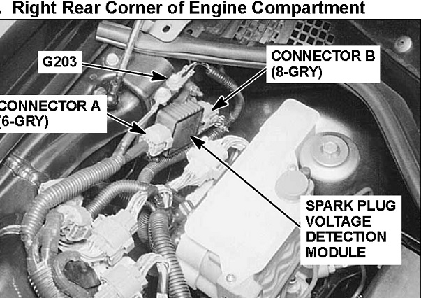 OBDII Code P1317 ACURA - Spark Plug Voltage Detection Circuit Malfunction Rear Bank 1 - Engine-Codes.com